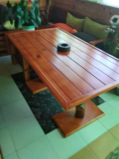 Mesa rústica para el jardín o la terraza · LEROY MERLIN