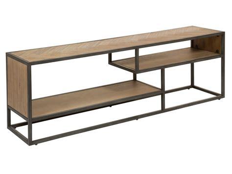 Mesa TV industrial madera con patas de hierro   Mueble de ...