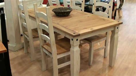 Mesa y 4 sillas rústico madera maciza 2860 2717   YouTube