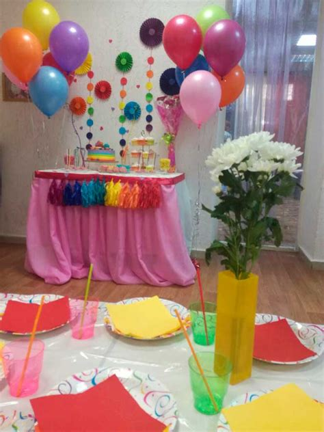 Mesas de dulces Para Cumpleaños De Arcoiris