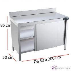 Mesas de fondo 50 cm en acero inox para cocinas   Hosdecora