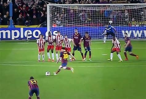 Messi anotó un golazo de tiro libre [video] | Fanbolero