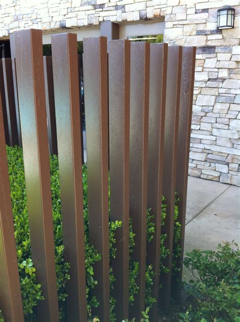 Metal fence...protection yet can be seen through ...