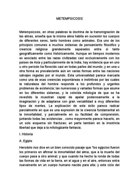 METEMPSICOSIS | Reencarnación | Alma | Prueba gratuita de ...