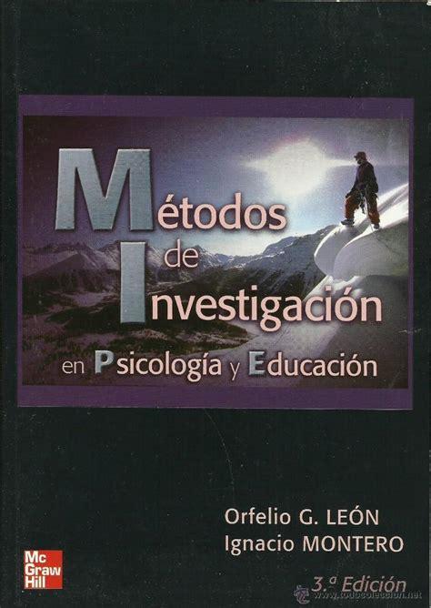 métodos de investigación en psicología y educac   Comprar ...