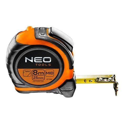Mètre à Ruban Nylon NEO TOOLS 67 198 8m x 25 mm ...