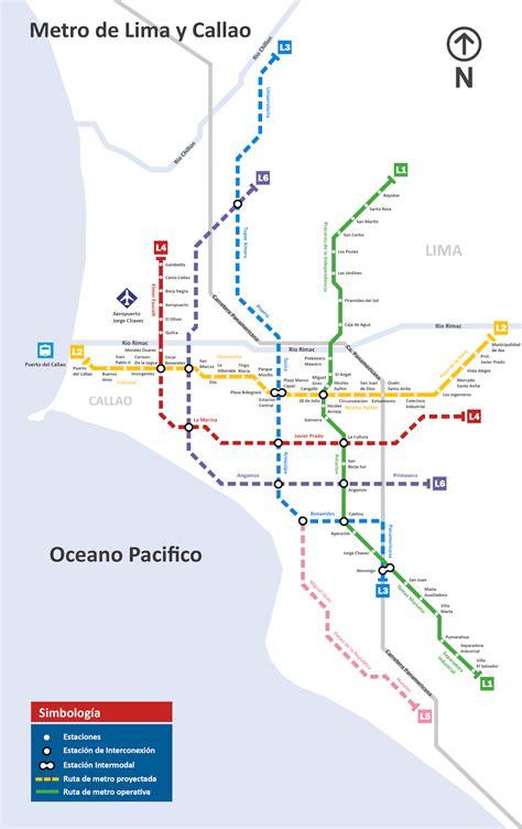 Metro de Lima  Horizonte 2025 : Red Futura al 2025   Metro ...