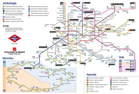 Metro de Madrid   Plano de las líneas, horario y precio ...