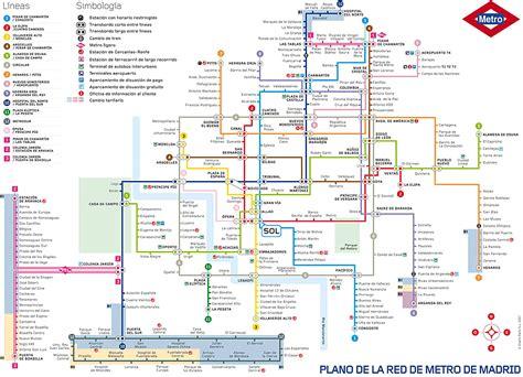 Metro de Madrid   Tarifas y plano del Metro de Madrid