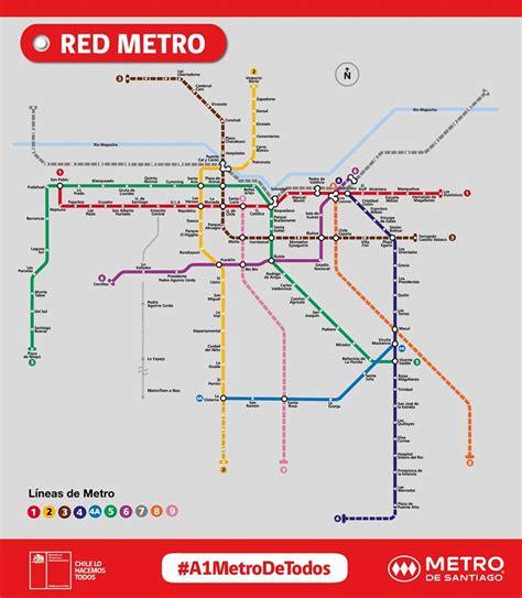 Metro de Santiago: Revisa el mapa de las próximas Línea 7 ...