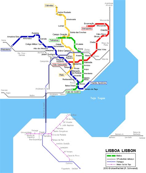 Metro map lisbon and travel information | Download free ...