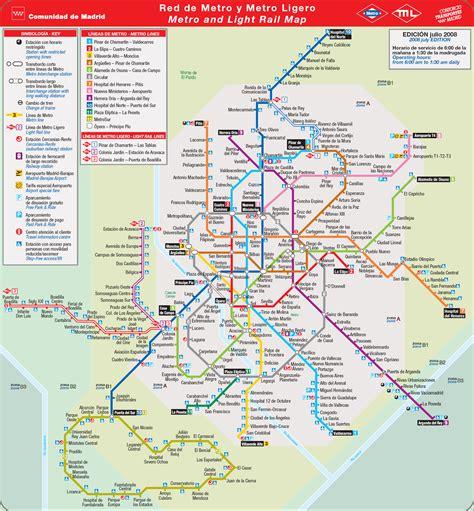 Metro map of Madrid. Metro maps of Spain. — Planetolog.com