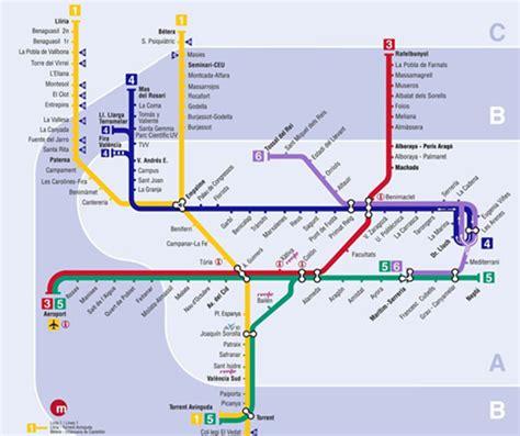 Metro   Mapa de Valencia