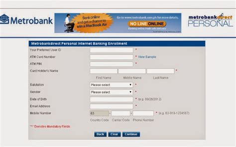 METROBANK WEEK: How to Enroll in Metrobank Direct Online ...