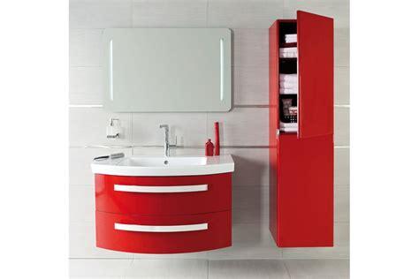 Meuble de salle de bain suspendu NICE DAY en 80 cm rouge ...