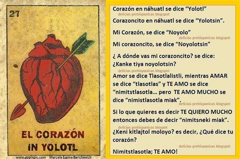 Mex Prehispanica: Palabras de AMOR en Nahuatl: | xicana ...