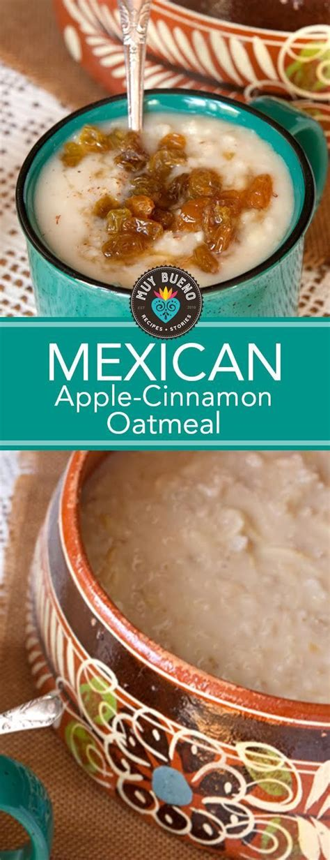 Mexican Apple Cinnamon Oatmeal. When I think of avena ...