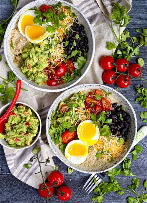 Mexican Breakfast Bowl with Oatmeal | Recipe in 2020 ...
