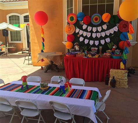 Mexican Fiesta Birthday Party   Candy Buffet and Seating ...