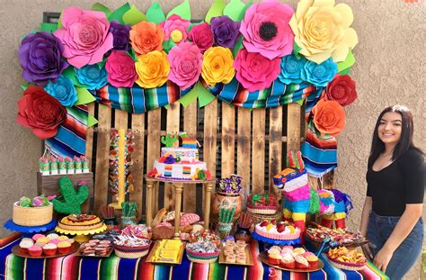Mexican Fiesta Candy Table | Fiesta theme party, Mexican ...