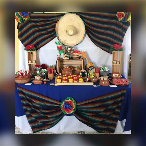 Mexican fiesta dessert table in 2019 | Mexican party ...