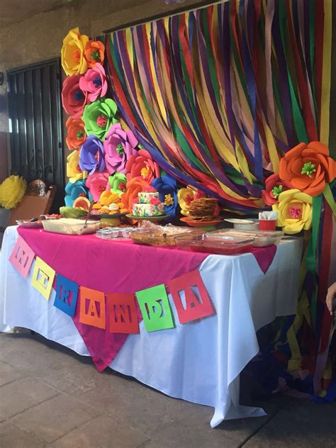 Mexican Fiesta dessert table | Mexican party theme, Fiesta ...