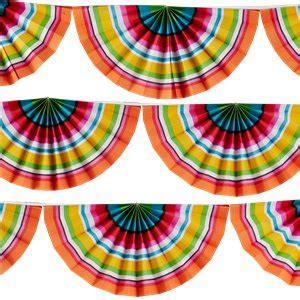 Mexican Fiesta Paper Fan Garland   2.7m | Party Delights