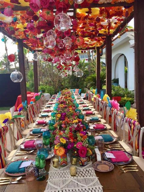 Mexican Fiesta Party Tablescape. Look at those flowers ...