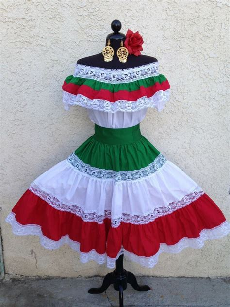 MEXICAN FIESTA,5 DE MAYO DRESS OFFSHOULDER W/RUFFLE 2PIECE ...