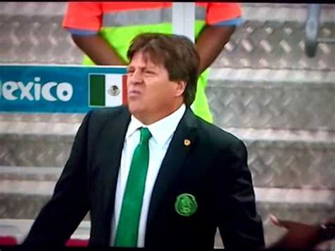 Mexican football coach funny reaction   YouTube