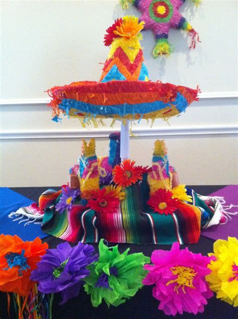 Mexican Party Table Decorations | Mexican party theme ...