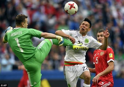 Mexico 2 1 Russia: Akinfeev embarrassed as hosts crash out ...