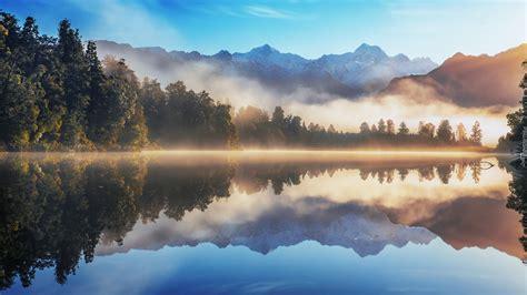 Mgła nad jeziorem