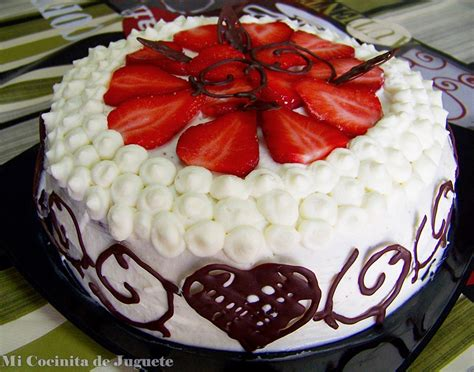 Mi Cocinita de Juguete: Tarta de Chocolate, Fresas y ...