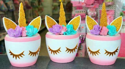Mi Fiesta Creativa: Ideas para centros de mesa unicornio