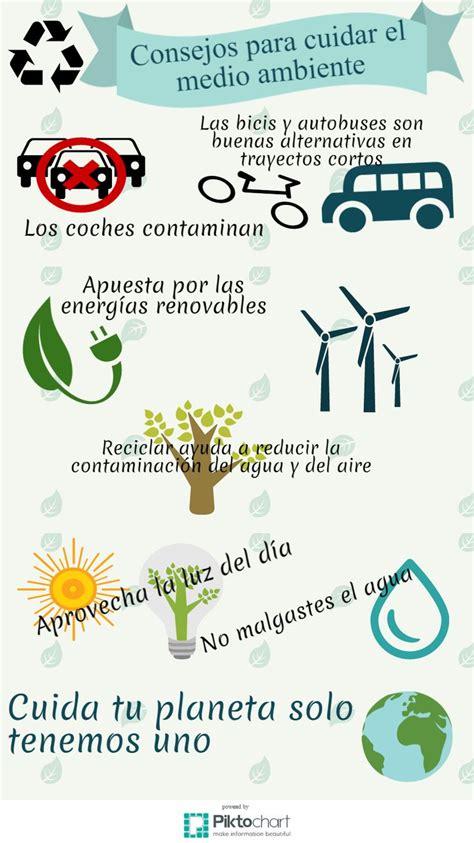 Mi infografía sobre consejos para cuidar el medio ambiente ...