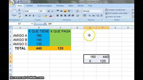 Mi primer tutorial | Proporciones en Excel   YouTube