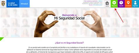 Mi Seguridad Social: Reporte de novedades en salud