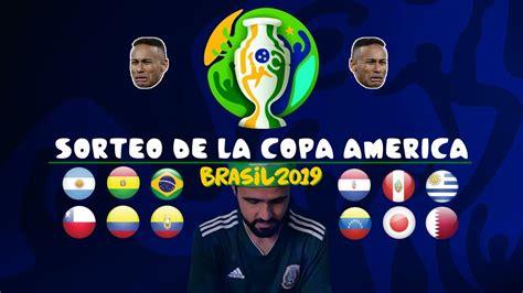 MI SORTEO DE LA COPA AMÉRICA 2019   Fase de grupos   YouTube