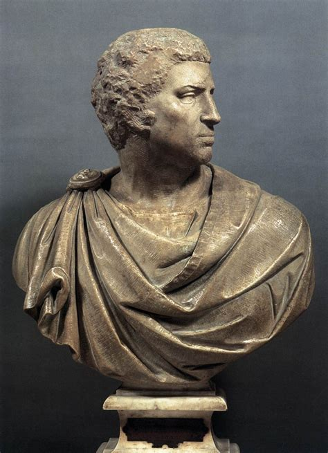 Michelangelo, Brutus 1540 Marble, height 95 cm  with base ...
