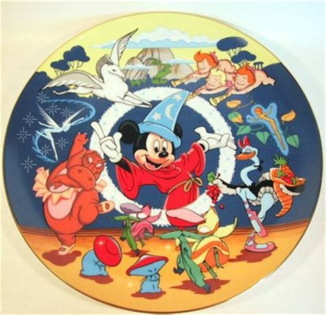 Mickey Mouse and the Fantasia cast Disney plate from our ...
