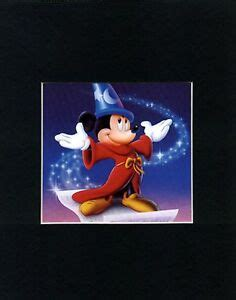 MICKEY MOUSE~FANTASIA~Mat Print~RED CAPE & BLUE HAT~NEW | eBay