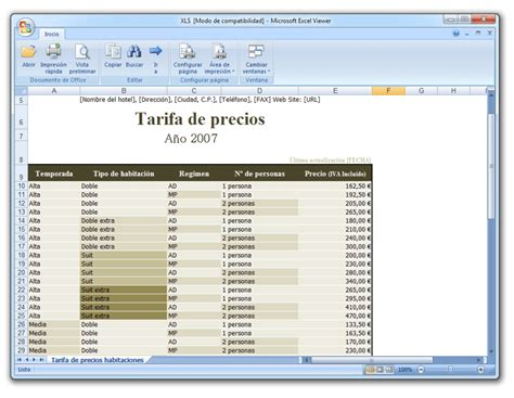 Microsoft Excel Viewer   Descargar