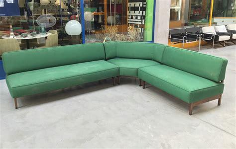 Mid Century Italian Green Modular Corner Sofa, 1960s for ...