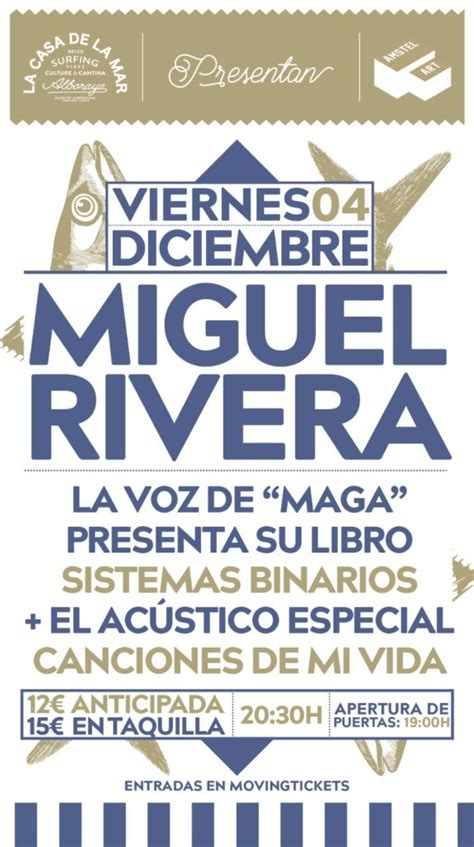 Miguel Rivera  Maga  presenta libro y concierto en ...