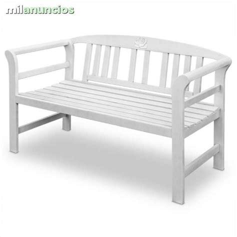 MIL ANUNCIOS.COM   Banco jardin madera lacada blanco nuevo