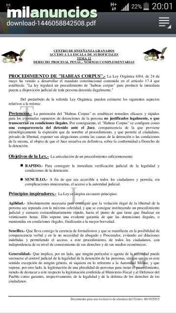 MIL ANUNCIOS.COM   Temario guardia civil suboficial 2018
