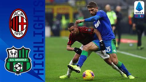 Milan Vs Sassuolo 0 0 Goals and Full Highlights – 2019