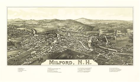 Milford New Hampshire   Burleigh 1886   38.96 x 23 ...