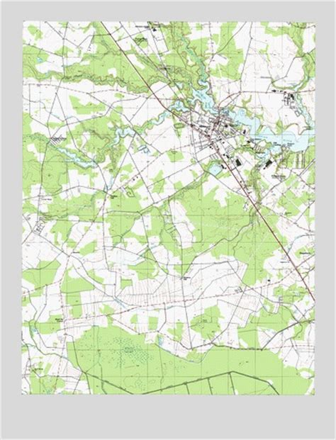 Millsboro, DE Topographic Map   TopoQuest